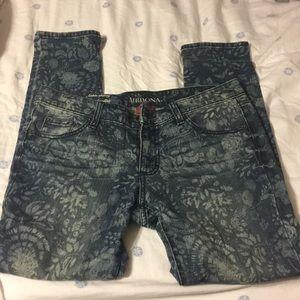 Merona floral jeans